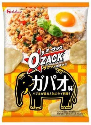 ガパオが今度はポテトチップスになって登場!「オー・ザック ガパオ味」新発売
